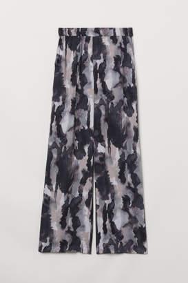 H&M Wide-cut Pull-on Pants - Brown