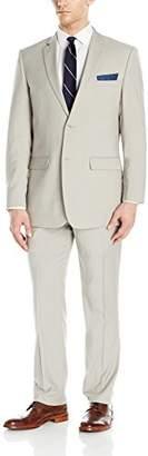 Perry Ellis Men's Two Button Slim Fit Solid Suit