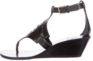 Tory Burch Tory Burch Leather Zoey Wedge Sandals