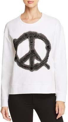 Kenneth Cole Embellished Pique Sweatshirt