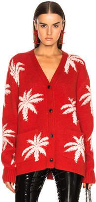 Amiri Palm Cardigan Sweater