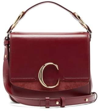 Chloé The C Mini Leather Cross Body Bag - Womens - Burgundy