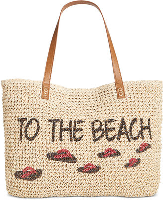 Style & Co To The Beach Straw Tote, Only at Macy's $48.50 thestylecure.com