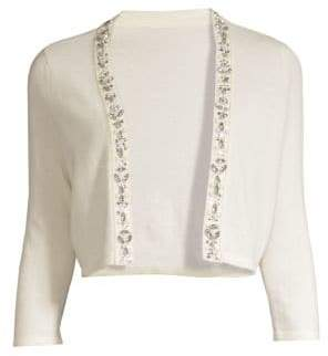 Saks Fifth Avenue COLLECTION Embellished Cashmere Shrug
