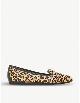Dune Geneveve leopard-print leather flats