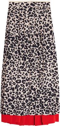 N°21 N21 Leopard Print Pleated Skirt