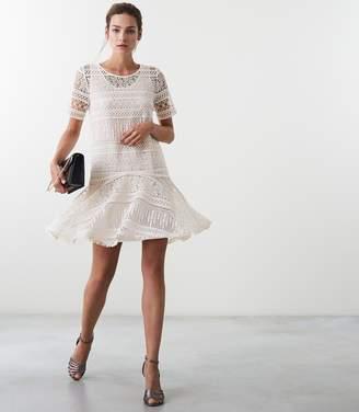 Reiss Linda Lace Shift Dress