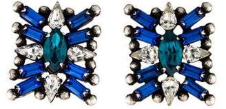 Dannijo Crystal Azul Stud Earrings