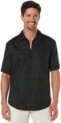 Cubavera Linen Short Sleeve Embroidered Popover