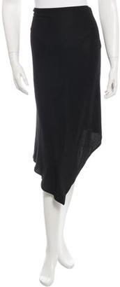 Jean Paul Gaultier Asymmetrical Knee-Length Skirt $65 thestylecure.com
