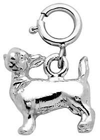 Dazzlers Sterling Silver Chihuahua Dog Charm