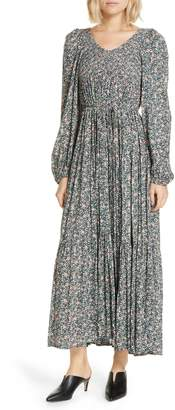 Apiece Apart Olivas Smocked Maxi Dress