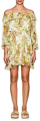 Zimmermann Women's Golden Floral Silk Off-The-Shoulder Dress