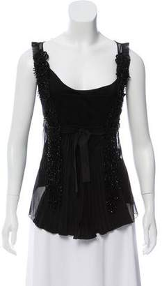 Prada Embellished Sleeveless Top