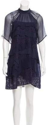 No.21 No. 21 Lace-Accented Mini Dress