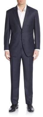 Saks Fifth Avenue Modern-Fit Wool Tonal Stripe Suit