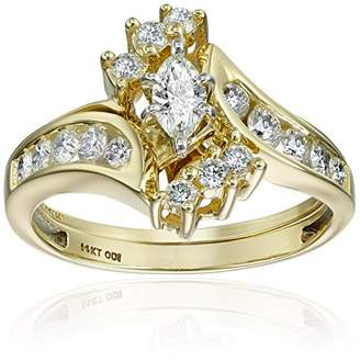 IGI Certified 14k Gold Bypass Diamond (1cttw