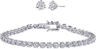 JCPenney FINE JEWELRY DiamonArt 10 CT. T.W. Cubic Zirconia Earring and Bracelet Set