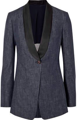 Brunello Cucinelli 缎布边饰牛仔西装式外套