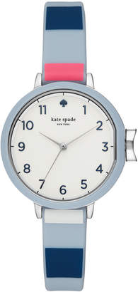 Kate Spade Women's Park Row Multicolored Striped Silicone Strap Watch 34mm