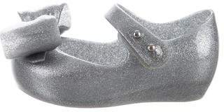Mini Melissa Girls' Bow-Accented Rubber Shoes