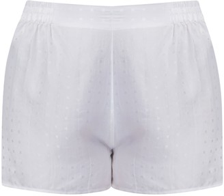 Gisy Morning No.1 White Silk Pajama Shorts