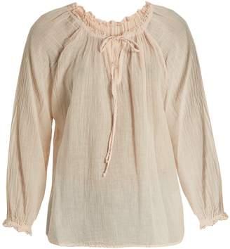 Velvet by Graham & Spencer X Kirsty Hume Sunflower cotton-gauze top