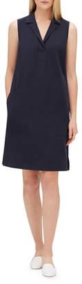 Lafayette 148 New York Kit V-Neck Sleeveless Dress with Pockets