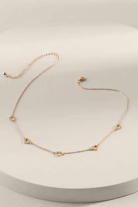 francesca's Mia Pave Heart Delicate Necklace - Gold