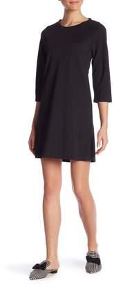 Molly Bracken Crew Neck Textured Woven Dress