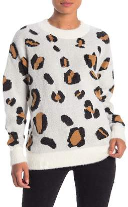 Cotton Emporium Leopard Print Tunic Sweater