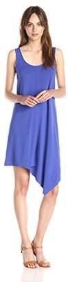 Lilla P Women's Stretch Jersey Asymmetrical Tank Dress