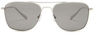 Ermenegildo Zegna Women&s Titanium Aviator Sunglasses $420 thestylecure.com