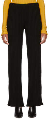 Simon Miller Black Cyrene Stretch Wide Rib Lounge Pants