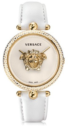 Women's Versace Palazzo Empire Leather Strap Watch, 39Mm $1,395 thestylecure.com