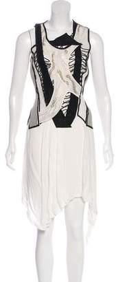 Helmut Lang Silk Embellished Dress