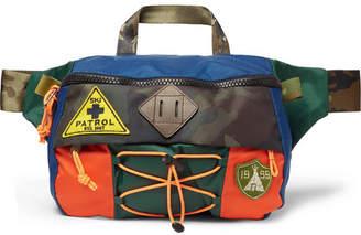c9b6ca01eb Polo Ralph Lauren Appliquéd Colour-Block Nylon Belt Bag