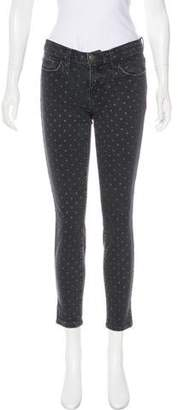 Current/Elliott Mid-Rise Polka Dot Jeans