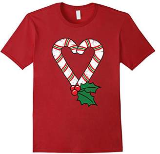 Christmas : Candy Cane Heart Vintage T Shirt