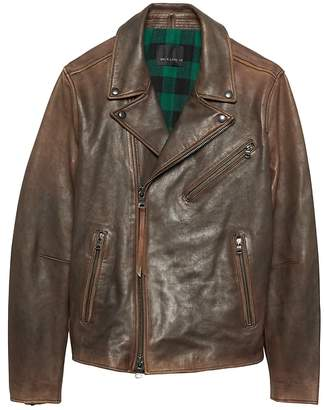 Banana Republic BR x Kevin Love | Slim Leather Biker Jacket