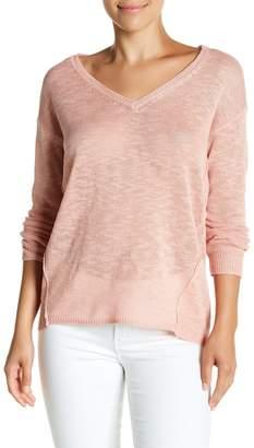 Michael Stars Keyhole Back V-Neck Sweater