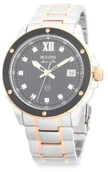 Bulova Men's Marine Star Two-Tone Stainless Steel Diamond Watch