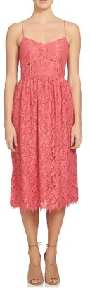 Women's Cece Aurora Lace Midi Dress $158 thestylecure.com