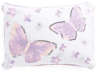 Kids 14x20 Butterfly Glitter Pillow