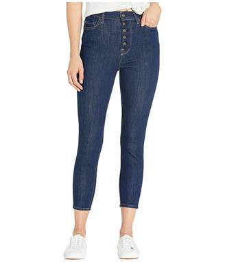 7 For All Mankind Aubrey w/ Exposed Button Fly in Uptown Rinsed