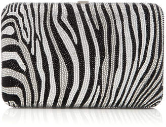 Judith Leiber Couture Zebra Seamless Crystal Embellished Clutch