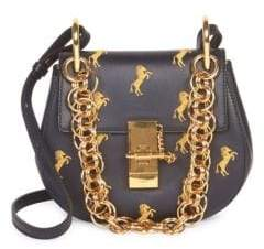 Chloé Small Little Horses Embroidered Leather Crossbody