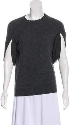 AllSaints Cashmere Rib-Knit Trim Sweater