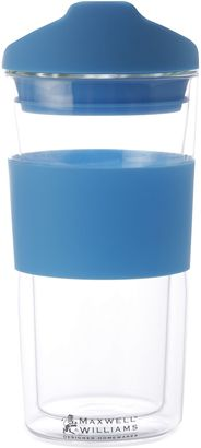 Maxwell & Williams Hot & Cold Double Wall Straight Mug & Lid, 350ml, Blue MW