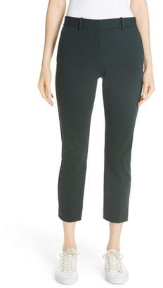 Theory Treeca Textured Knit Slim Crop Pants